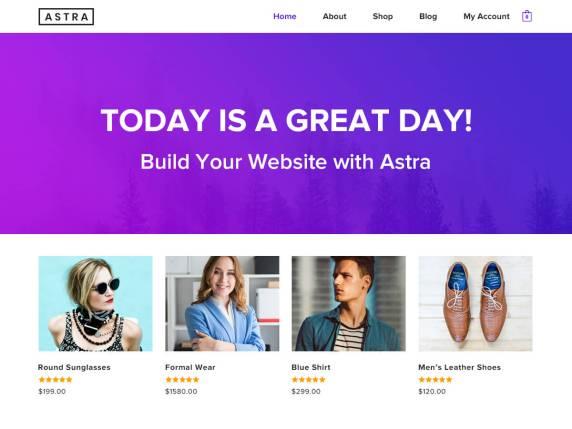 astra - besplatniy shablon wordpress download